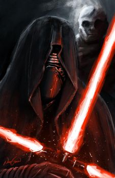 Kylo Ren and Snoke by NhtgkcN