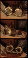 Steampunk Aviator Goggles by kyphoscoliosis