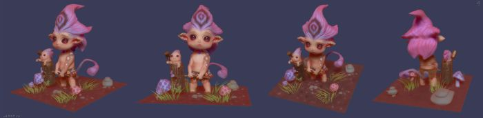 Little Monster :) CHARACTER STRIP by huzzain