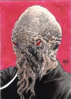 Doctor Who Sketchcard- An Ood by RobertHack
