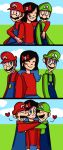 Mario and Luigi Hug Request (SuperMariofan101) by mariogamesandenemies