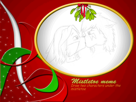 Mistletoe Meme Lax and Seth by Laxan-Enore