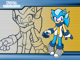 :SB: Nova the Hedgehog by LeatherRuffian