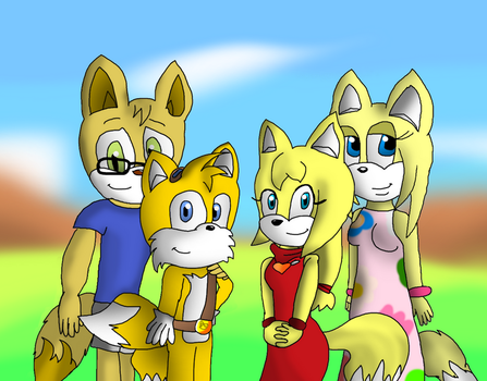 A Happy Fox Family by Toad900