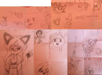 Just a few doodles I stole off my classmate by Xx-NanamiNeko-xX