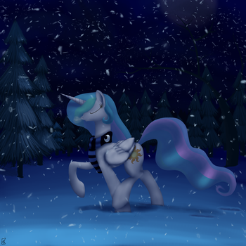 Prancing Through a Silver Storm by MidwestBrony