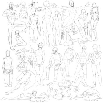 Sketches 9 by kos-tyan