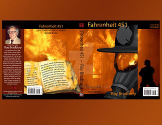 Book cover for Fahrenheit 451 by truncheonm