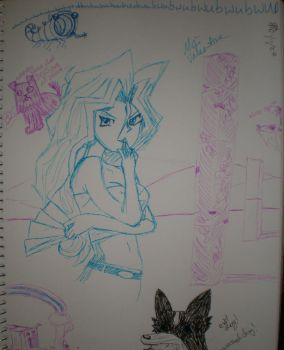 Sketching by wickedwif