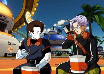 commission 104- trunks and android zero by salvamakoto