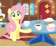 Fluttershy made hot chocolate for you! by KTurtle