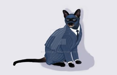 BLU Spy-amese Cat by sparkchan