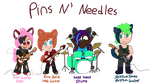 Pins N' Needles Band Chibis by SparkMaster37
