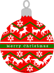 Horsey Christmas Ornament by Vipette