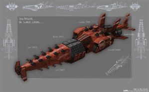 The Scarlet Carson Battleship by NuMioH
