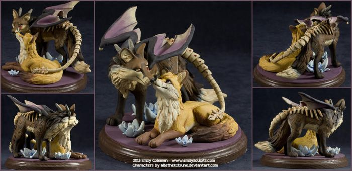 Commission : Nero and Lila by emilySculpts