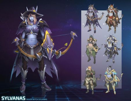 HotS Concept: Raven Witch Sylvanas by bvdconcept