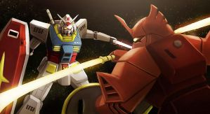 Gundam Vs. Gelgoog by Kamajaya-78