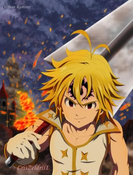 Meliodas leader of the ten commandments (FanArt) by CrisZeldris1