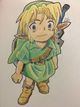 Young Link - Ocarina of Time/Majora's Mask by SamsterBoy