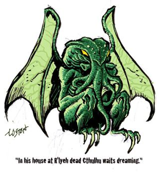 Cthulhu Color Sketch by LostonWallace