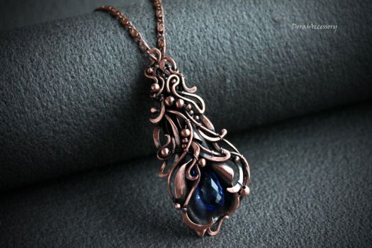 Copper pendant with quartz by MDorothy