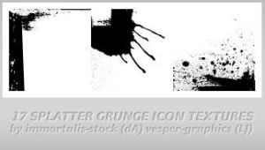 17 Splatter Icon Textures by immortalis-stock