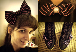 Black and Pink Accessories by emiko42