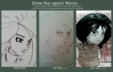 Meme: Draw This Again - Gally by maddein