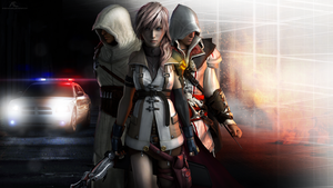 Lightning, Ezio and Altair by andersoncathy
