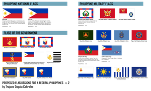 Proposed flag designs for a Federal Philippines by TrajanoCabrales