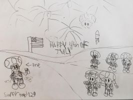 Happy 4th of july from the toad brigade  by supertoad129