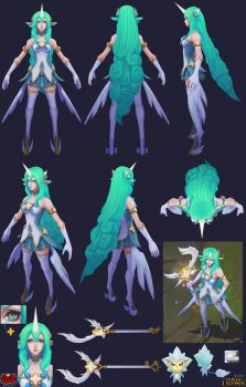 Star Guardian Soraka Cosplay Sheet by YBourykina