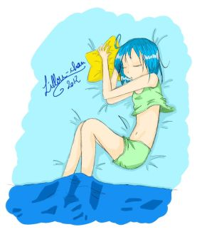 Sleeping Aoi by Lillou-chan