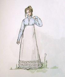 1810 Walking Dress- design by lachwen