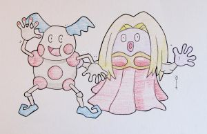 Mr. Mime + Jynx by Hurek