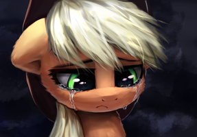 Sad AppleJack by INowISeeI