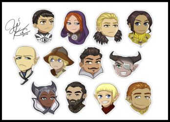 Dragon Age Chibis by Nokuthula
