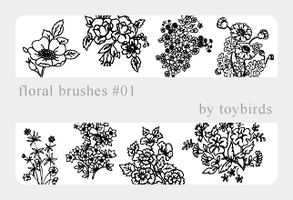 Floral Brushes 01 by toybirds
