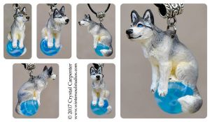 Icy Canine Pendant by soulofwinter
