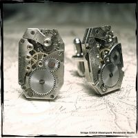 Steampunk Cufflinks by SoulCatcher06