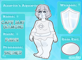 Cape May Diamond (Azurite's Aquarium ref) by Chickadde1