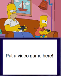 Homer and Bart play a blank meme by Mroyer782