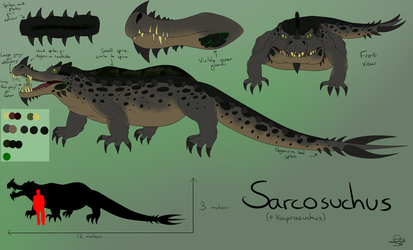 FA 8 Contest Entry [Sarcosuchus] by DragonessAnimations