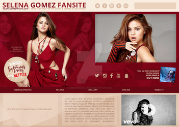 Selena Gomez Header (to be WP Theme Premade) by unbrokengraphics