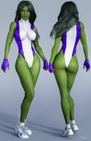 Character Reference She-Hulk v2 by tiangtam