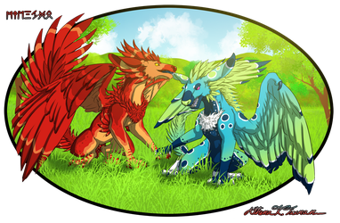 Skylogryphs, Pyrofreen and Seagrass by Athena-Tivnan
