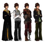 The Big Four: Hiccup's outfits by ZLynn