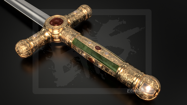 Ceremonial Sword - Epee de Ceremonie (1) - OC by Etrelley