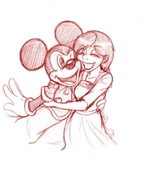 Hugs for Mickey by SonicHearts